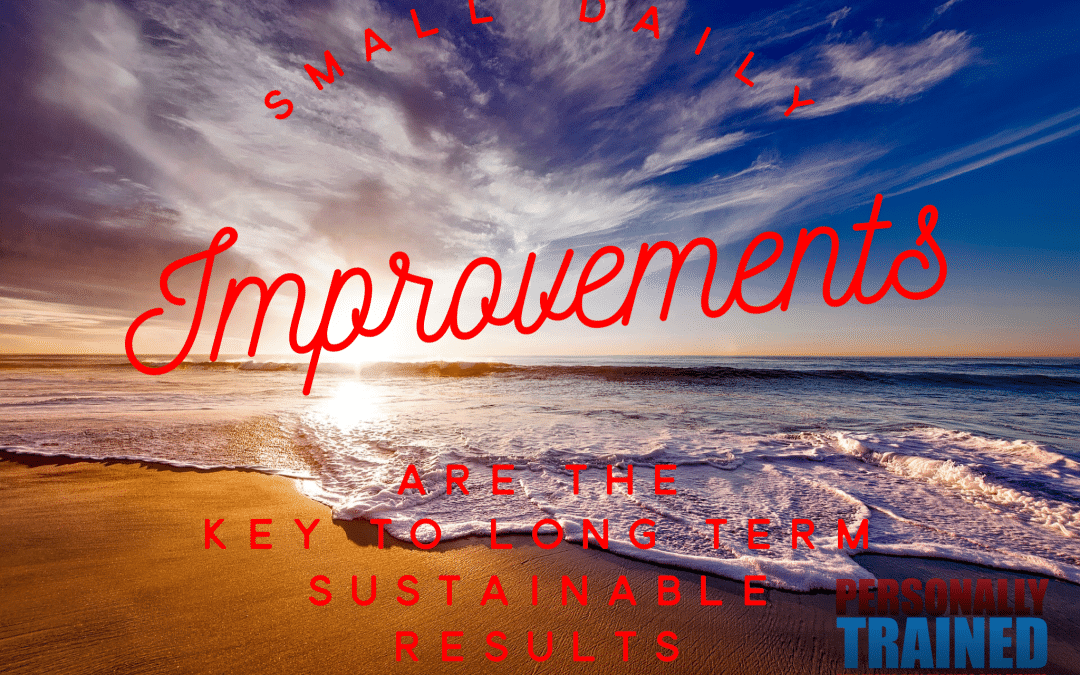Small daily improvements are the key to long term sustainable results