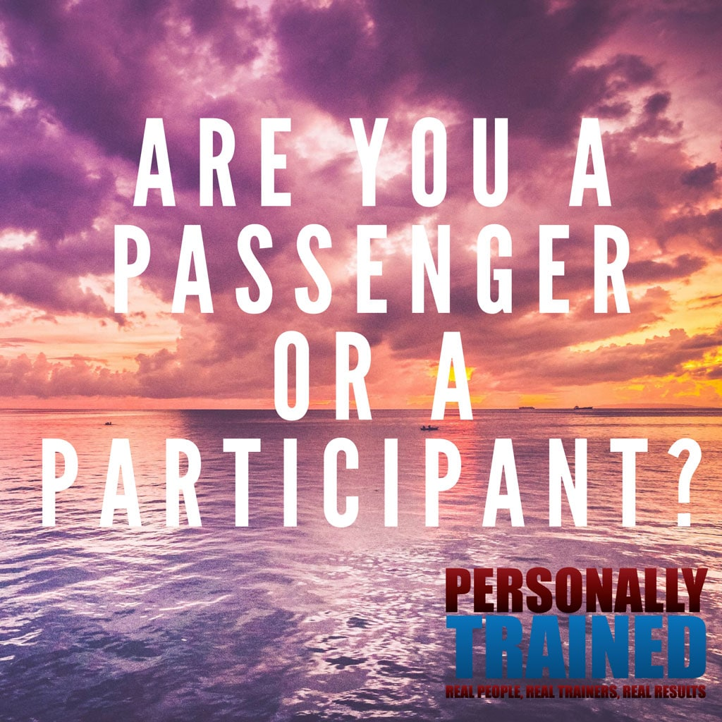 Are you a passenger or a participant?